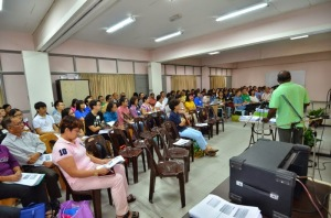 Some of the participants listening to Monsignor Bernard Paul at the discernment.
