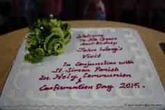 A close-up of the cake.
