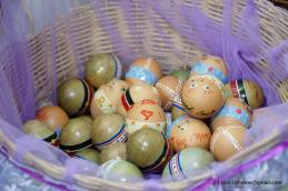 Some of the Easter eggs prepared by the parishioners.